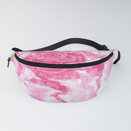 Exploding Rose Watercolour painting Fanny Pack
