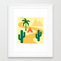 camping Framed Art Prints featuring Camping by Mr and Mrs Quirynen