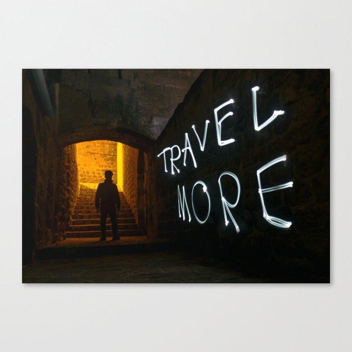 Travel More Canvas Print