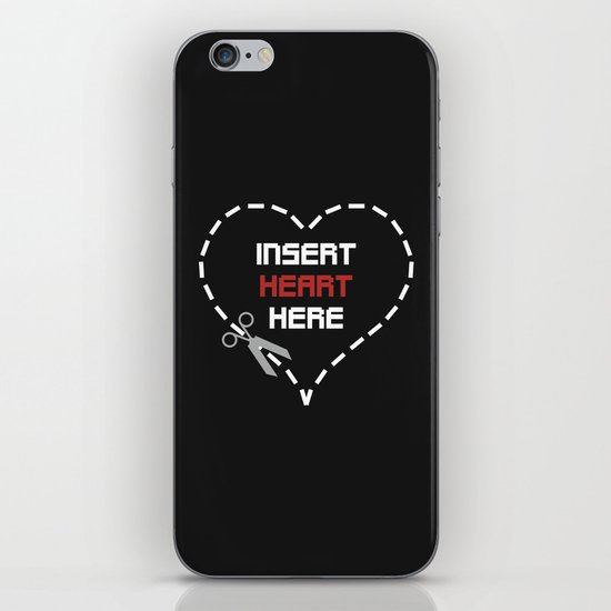 Insert Heart Here iPhone & iPod Skin