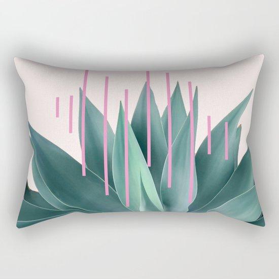 Agave geometrics II - pink Rectangular Pillow