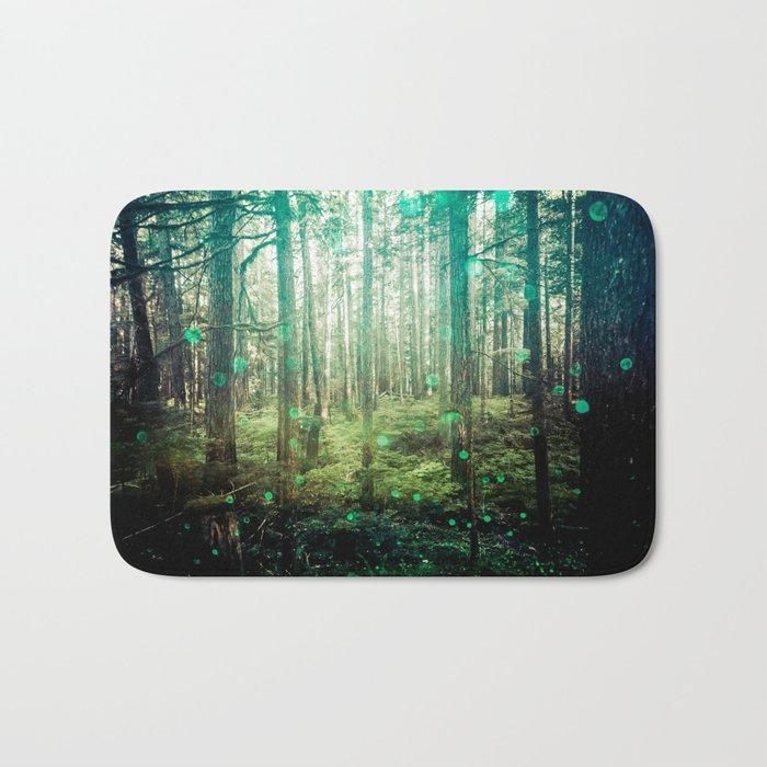 Magical Green Forest Bath Mat
