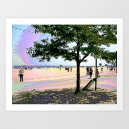 On The Beach Art Print