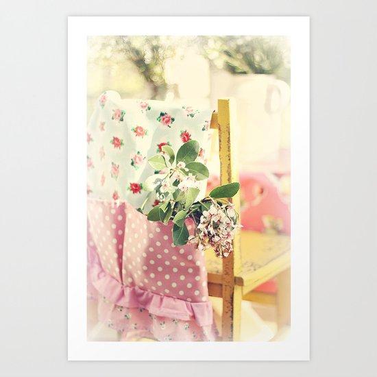 The apron Art Print