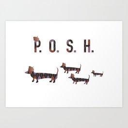 Posh Dachshund Family Art Print