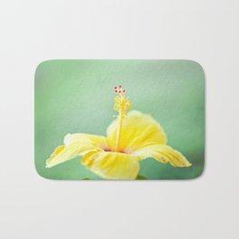 Yellow Hibiscus 2 Bath Mat