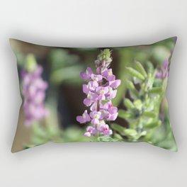 Closeup Purple Desert Lupine Coachella Preserve Rectangular Pillow