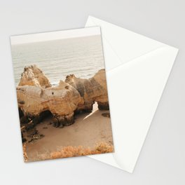 coastal sunset view on the beach in the Algarve, Portugal | Photo Print, Travel Photography Stationery Cards