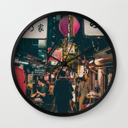 "PHOTOGRAPHY ""Typical Japan Street"" Wall Clock"