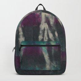 Tie Dye Turquoise Black Purple Backpack
