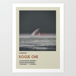 Rogue One Retro Poster III Art Print
