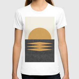 Sunset Geometric Midcentury style T-shirt
