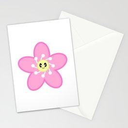 Kawaii Cute Pink Cherry Blossom Sakura Flower Character Stationery Cards