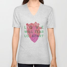 Love will tear us apart Unisex V-Neck