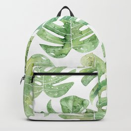 Monstera leaves Jungle leaves Palm leaves Tropical Backpack