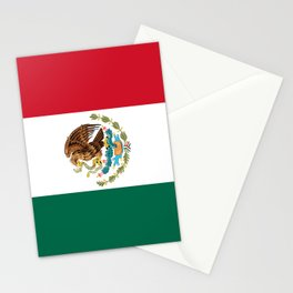 Mexican flag of Mexico Stationery Cards