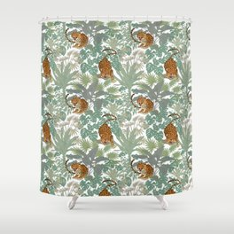 Leopards in the jungle pattern. Shower Curtain