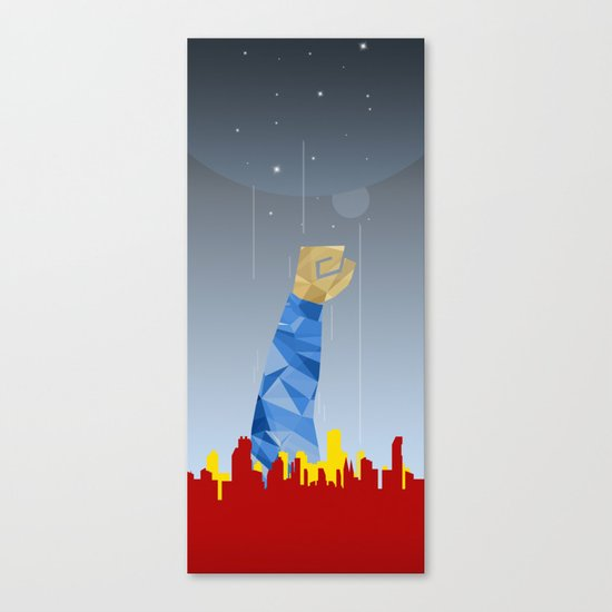Polygon Heroes Rise 1 Canvas Print