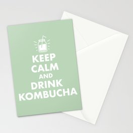 Keep Calm and Drink Kombucha Stationery Cards
