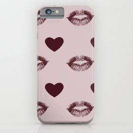 Hearts and Kisses iPhone Case