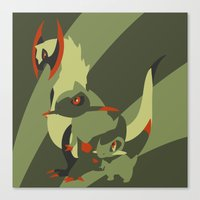 smaug Canvas Prints featuring Smaug by Citron Vert