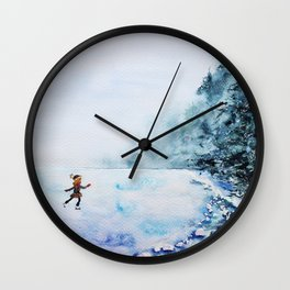 Winter fun Wall Clock