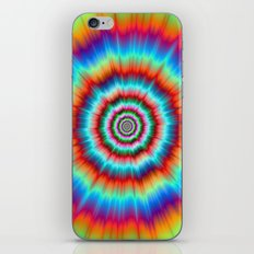 Explosion in Blue and Orange iPhone & iPod Skin