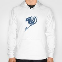 fairy tail Hoodies featuring Fairy Tail Segmented Logo Gray by JoshBeck
