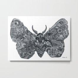 'Moth' Metal Print