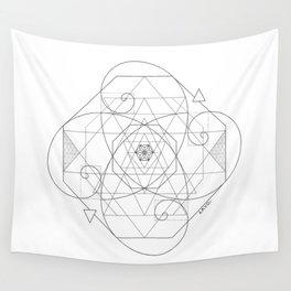 Fibonacci Geometric Mandala Wall Tapestry