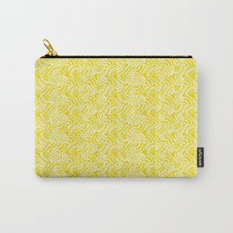 Geometric Optical Illusion Pattern VIII - Yellow Carry-All Pouch