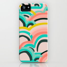 mostly cloudy iPhone Case