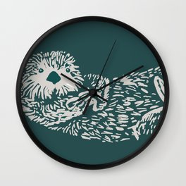 The handsome sea otter Wall Clock