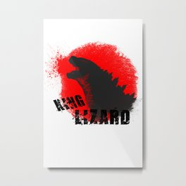 King Lizard Metal Print