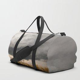 Marshmallow - Storm Cloud Over Golden Wheat in Kansas Duffle Bag