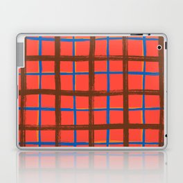 Red plaid, pool tiles pattern, tartan Laptop & iPad Skin