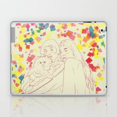 Two girls and a cat Laptop & iPad Skin