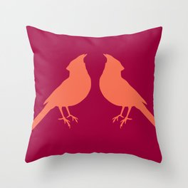 facing cardinals (color) Throw Pillow