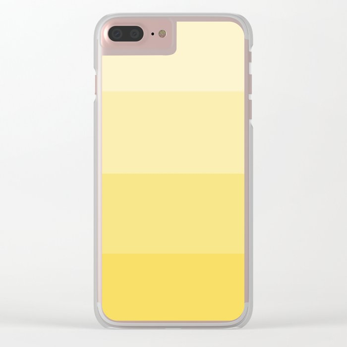 Four Shades of Yellow Clear iPhone Case