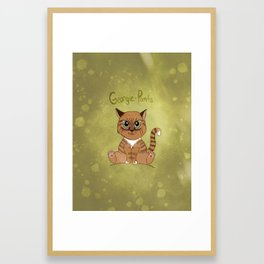 Georgie-Pants Framed Art Print