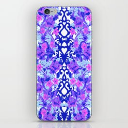 Baroque Blue iPhone Skin