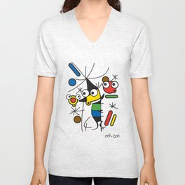 Ooh Zoo – art-series, Miro Unisex V-Neck