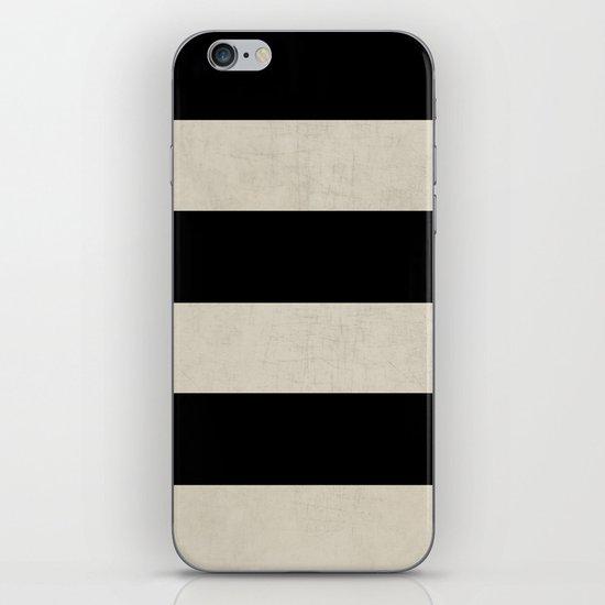 vintage black stripes iPhone & iPod Skin