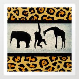 Animals on Parade Art Print