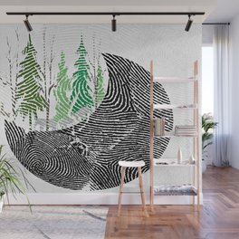 Our fingerprint on earth Wall Mural