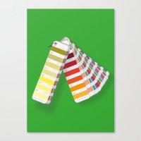 pantone Canvas Prints featuring PANTONE by VincenzoRusso