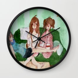 The Demon Triplets In Their Living Room Wall Clock