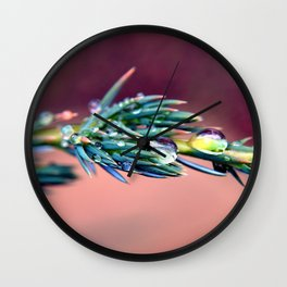 Pine After Rain Wall Clock