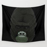 gorilla Wall Tapestries featuring Gorilla by DarkChoocoolat