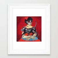 dia de los muertos Framed Art Prints featuring Dia de los muertos by Irina Sidorowicz